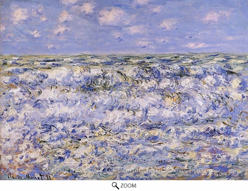 Claude Monet, Waves Breaking oil painting reproduction