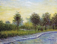 Way in the Voyer d'Argenson Park in Asnieres painting reproduction, Vincent Van Gogh