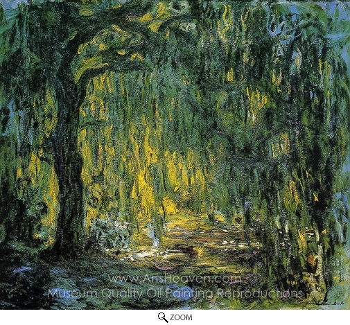 Claude Monet, Weeping Willow oil painting reproduction