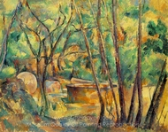 Well, Millstone and Cistern Under Trees painting reproduction, Paul Cézanne