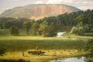 West Rock, New Haven painting reproduction, Frederic Edwin Church