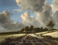Wheat Fields painting reproduction, Jacob Van Ruisdael