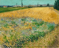 Wheatfield painting reproduction, Vincent Van Gogh
