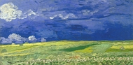 Wheatfield Under Thunderclouds painting reproduction, Vincent Van Gogh