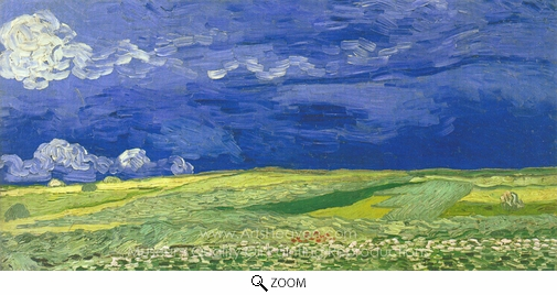 Vincent Van Gogh, Wheatfield Under Thunderclouds oil painting reproduction