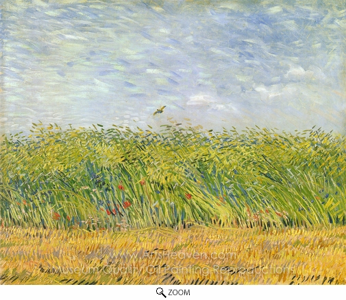 Vincent Van Gogh, Wheatfield with a Lark oil painting reproduction