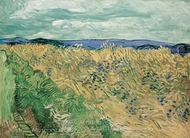 Wheatfield with Cornflowers painting reproduction, Vincent Van Gogh