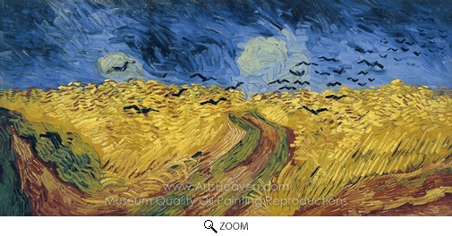 Vincent Van Gogh, Wheatfield with Crows oil painting reproduction