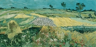 Wheatfields painting reproduction, Vincent Van Gogh