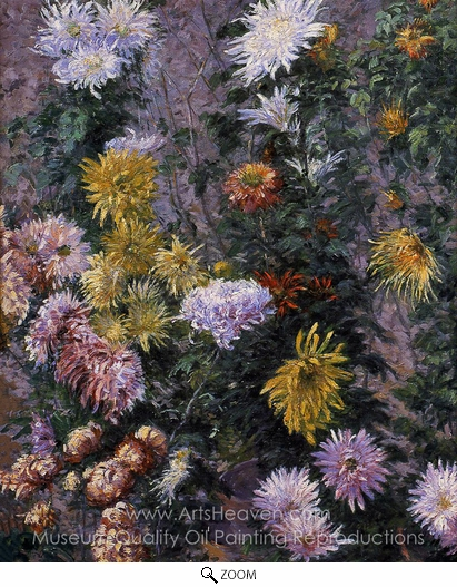 Gustave Caillebotte, White and Yellow Chrysanthemims oil painting reproduction