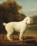 White Poodle in a Punt painting reproduction, George Stubbs