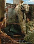 Who Is It painting reproduction, Sir Lawrence Alma-Tadema