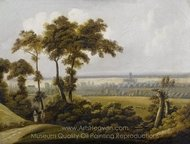 Wide English Landscape painting reproduction, Thomas Gainsborough