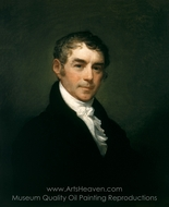 William Eustis painting reproduction, Gilbert Stuart