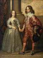 William II, Prince of Orange and Princess Henrietta Mary Stuart, Daughter of Charles I of England painting reproduction, Sir Anthony Van Dyck