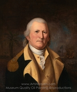 William Moultrie painting reproduction, Charles Willson Peale