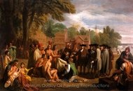 William Penns Treaty with the Indians painting reproduction, Benjamin West