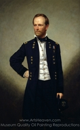 William T. Sherman painting reproduction, George P. A. Healy