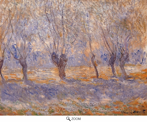 Claude Monet, Willows, Giverny oil painting reproduction