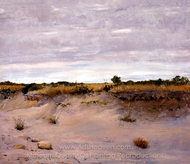 Wind Swept Sands, Shinnecock, Long Island painting reproduction, William Merritt Chase