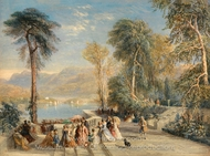 Windermere during the Regatta painting reproduction, David Cox