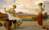 Winding the Skein painting reproduction, Lord Frederic Leighton