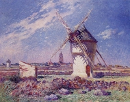 Windmills Near the Town of Batz painting reproduction, Ferdinand Du Puigaudeau