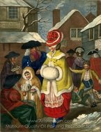 Winter painting reproduction, John Collet