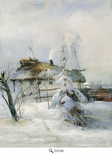 Alexey Savrasov, Winter oil painting reproduction