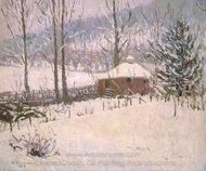 Winter at Portland painting reproduction, Allen Tucker