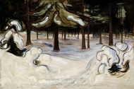 Winter in the Woods painting reproduction, Edvard Munch