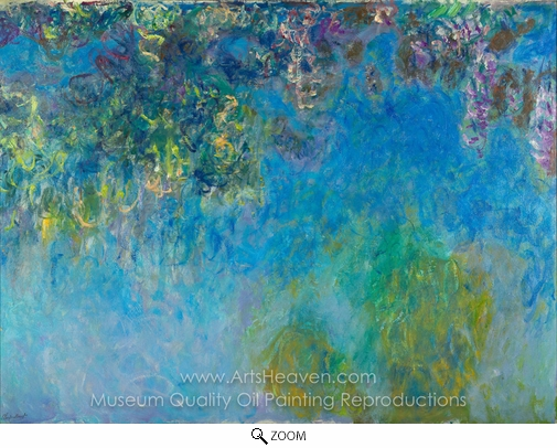 Claude Monet, Wisteria oil painting reproduction