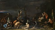 Witches at their Incantations painting reproduction, Salvator Rosa