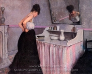 Woman at a Dressing Table painting reproduction, Gustave Caillebotte
