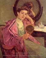 Woman at Her Toilette painting reproduction, Mary Cassatt