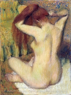 Woman Combing Her Hair painting reproduction, Edgar Degas