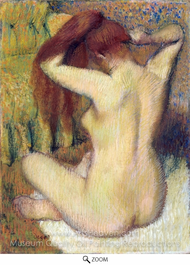 Edgar Degas, Woman Combing Her Hair oil painting reproduction