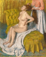 Woman Having Her Hair Combed painting reproduction, Edgar Degas