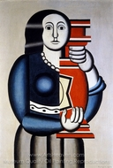 Woman Holding a Vase painting reproduction, Fernand Leger