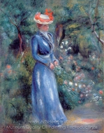 Woman in a Blue Dress painting reproduction, Pierre-Auguste Renoir