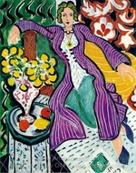 Woman in a Purple Coat painting reproduction, Henri Matisse