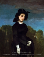 Woman in a Riding Habit (L'Amazone) painting reproduction, Gustave Courbet