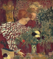 Woman in a Striped Dress painting reproduction, Edouard Vuillard