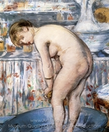 Woman in a Tub painting reproduction, Édouard Manet