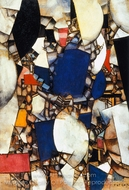 Woman in Blue painting reproduction, Fernand Leger