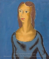 Woman in Blue painting reproduction, Alfred Henry Maurer