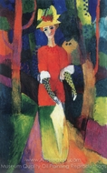 Woman in Park painting reproduction, August Macke