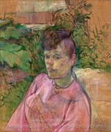 Woman in the Garden of Monsieur Forest painting reproduction, Henri De Toulouse-Lautrec