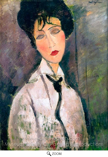 Amedeo Modigliani, Woman with a Black Cravat oil painting reproduction