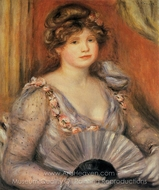 Woman with a Fan painting reproduction, Pierre-Auguste Renoir